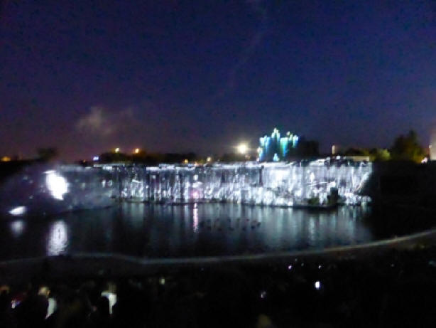 night-time spectacular at Futuroscope