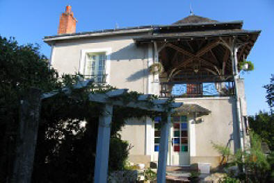 the balcony at Les Balcons holiday home in Le Grand-Pressigny France