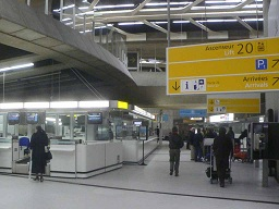 Check-in at CDG airport Paris