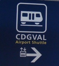 CDGVAL sign at Parisharles de Gaulle airport