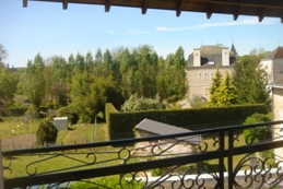view from Les Balcons holiday home in Le Grand-Pressigny France