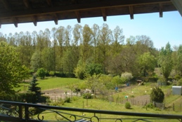 balcony view at Les Balcons holiday home in Le Grand-Pressigny France
